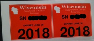 Registration Sticker